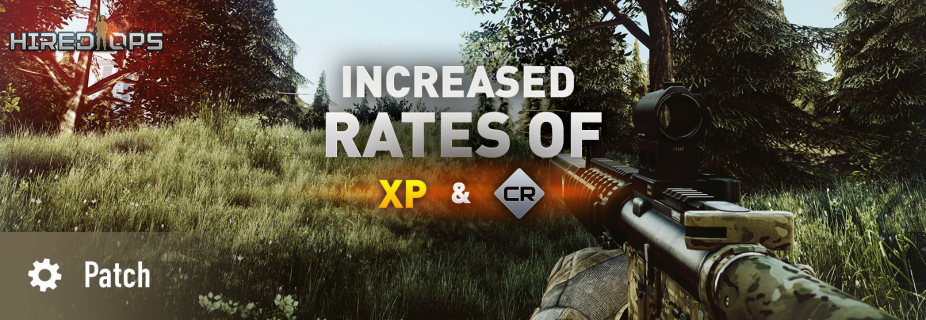 Increased rates of XP and CR